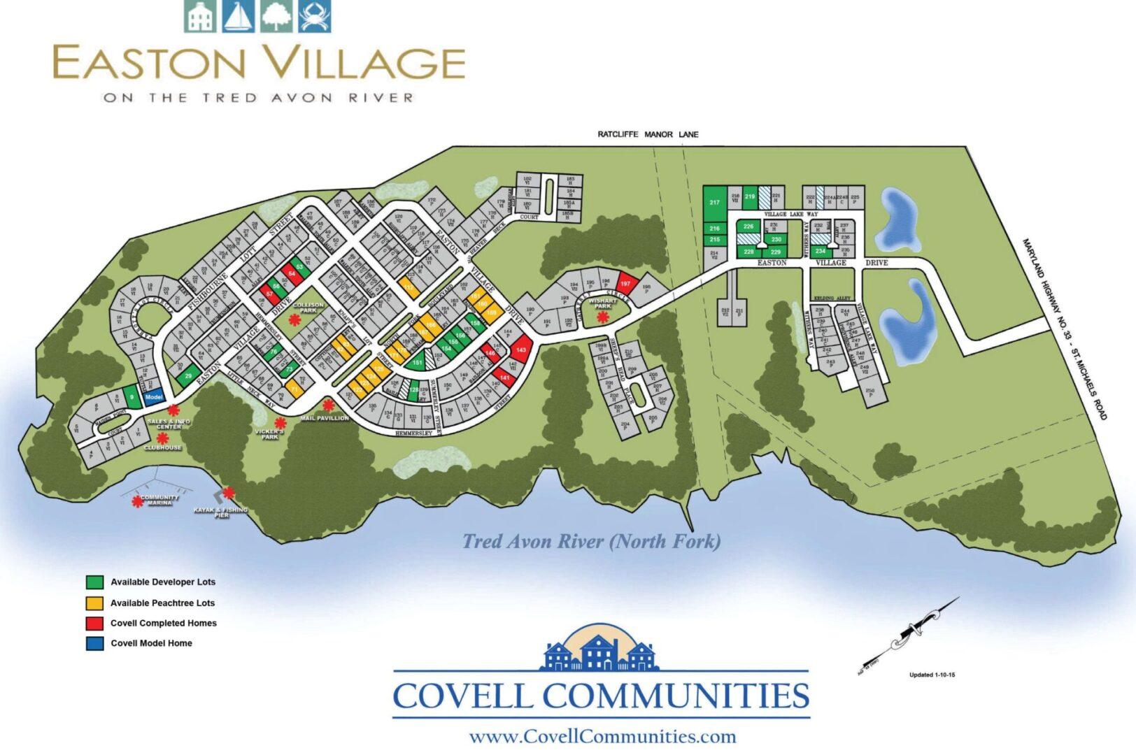 Easton village master plan